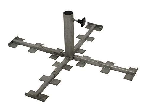 gartenmoebel-einkauf Schirmständer aus Metall zum Einlegen von Gehwegplatten, bis 54mm, Metall feuerverzinkt, rostfrei
