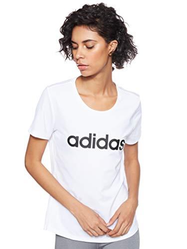 Adidas Desing 2 Move Logo tee Camiseta, Mujer, Blanco (White), S