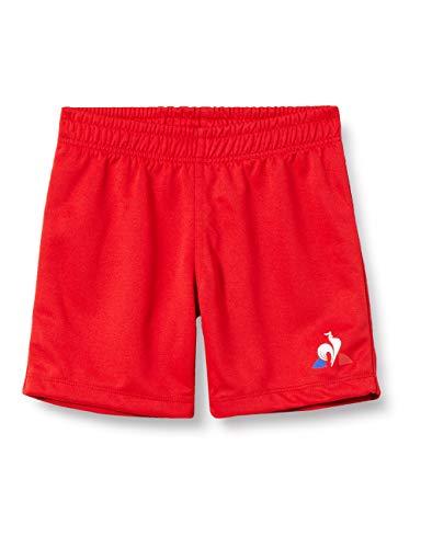 Le Coq Sportif Jungen N°1 Training Short Rugby Kurze Hose, Kinder, Rot, 10A