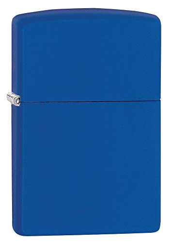 Zippo 229ZL Royal Blue Matte Lighter, Ottone, One Size