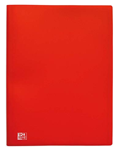 OXFORD Protège-Documents Initial A4 60 vues / 30 Pochettes Couverture Polypro Rouge