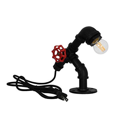 TBWY Desk Lamps Schreibtischlampen Retro Kreative Industrielle Loft Kupferrohr Hotel Wohnzimmer Studie Nachttischplatte Dekorative Lampe (Color : Brass)