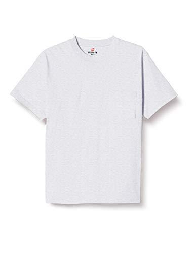 [ヘインズ] ビーフィー ポケット付き Tシャツ ポケT BEEFY-T 1枚組 綿100% 肉厚生地 H5190 メンズ ヘザーグレー L