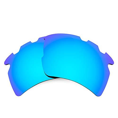 Revant Lentes de Repuesto Compatibles con Gafas de Sol Oakley Flak 2.0 XL Vented (Ajuste Asiático), No Polarizados, Azul Hielo MirrorShield