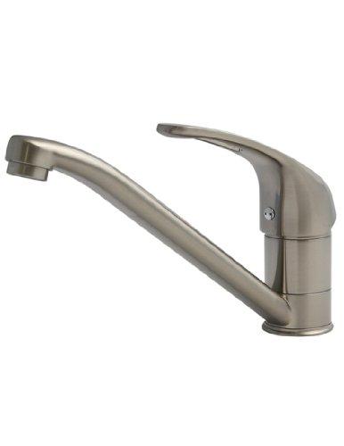 BURGTAL OXA   Küchenarmatur - Spültischarmatur   Mischbatterie für die Küche   Wasserhahn in Edelstahl Matt   Einhebelmischer - Niederdruck