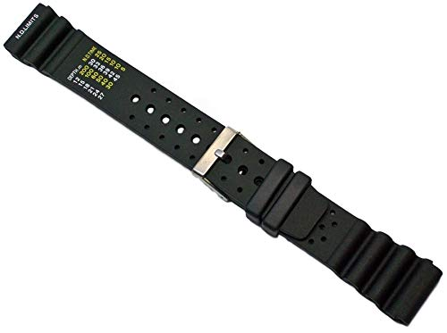 Kautschuk Uhrenarmband Schwarz Passend Citizen Promaster 18-24mm Armband Uhrband 22mm
