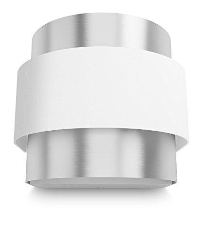 Philips 335153116 Drava Luminaire d'Intérieur Applique Murale LED Métal Blanc 6 W
