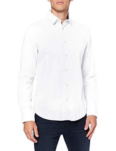 Springfield Herren 1508040 Hemd, Weiß, XX-Large