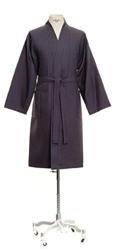 Möve Homewear Kimono Waffelpiquée in Gr. M aus 100 % Baumwolle, graphite