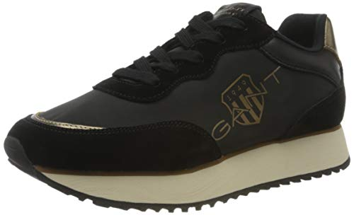 GANT FOOTWEAR Damen BEVINDA Sneaker, Black/Bronze, Black/Bronze, 40
