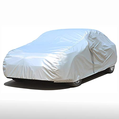 Car Cover Waterproof, 2 Layer Breathable Dustproof Full Car Covers, UV Protection, All Weather Breathable, Sun, Rain Protection Heavy Duty Indoor Outdoor Durable Car Cover for Automobiles