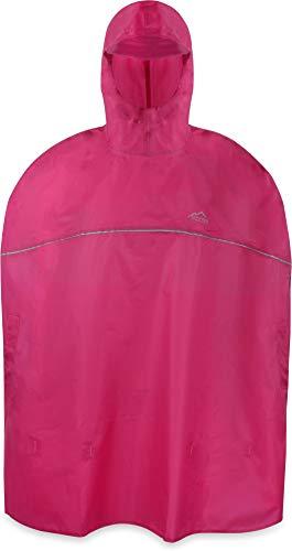 normani Outdoor Sports Kinder Regenponcho für Jungen und Mädchen mit Kapuze und 3M™ Scotchlite™ Reflektoren Farbe Rose