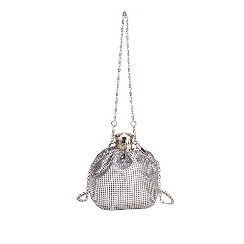 Monbedos Women's Sequin Backpack Women's Shoulder Bags Suitable for All Women, Silver (Silver) - HFI8F7ASEU