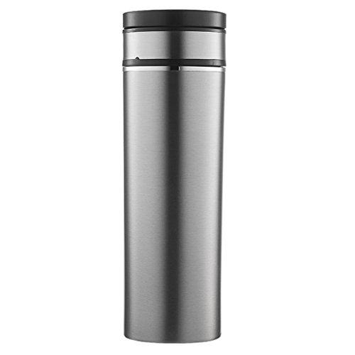 Bouilloire électrique de voiture, tasse futée de voyage, tasse de chauffage de voiture de 12V, thermos de revêtement d'acier inoxydable de la capacité 350ML ( Color : Steel color )