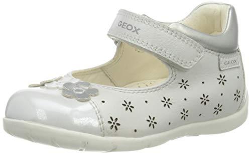 Geox B Kaytan B 4AJ, Ballerine Bimba 0-24, White/Silver C0007, 22 EU
