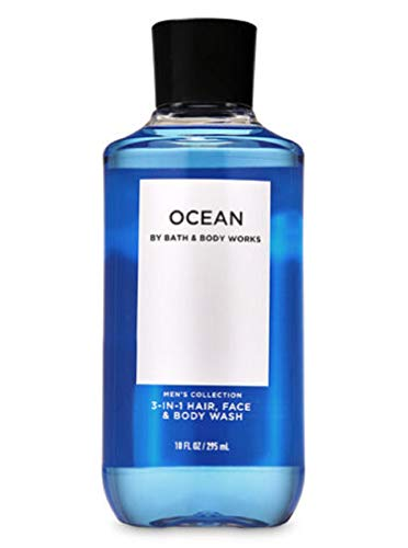 Bath & Body Works, Signature Collection 2-in-1 Hair + Body Wash, Ocean For Men, 10 Ounce