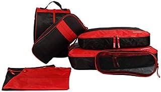 FidgetGear 7Pcs Set Packing Cubes Travel Luggage Organizer Zip Clothes Storage Bag Pouch Red One Size