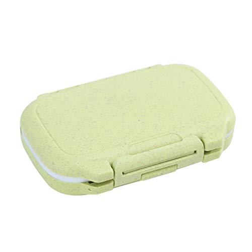 haia7k4k Caja de viaje, soporte diario para vitamina, 4 compartimentos, organizador de tabletas medicinales, almacenamiento de joyas