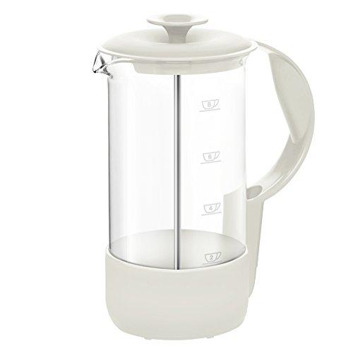 Emsa 516249 Kaffeebereiter, 8 Tassen, 1 Liter, Limited Editon, Weiß, Neo