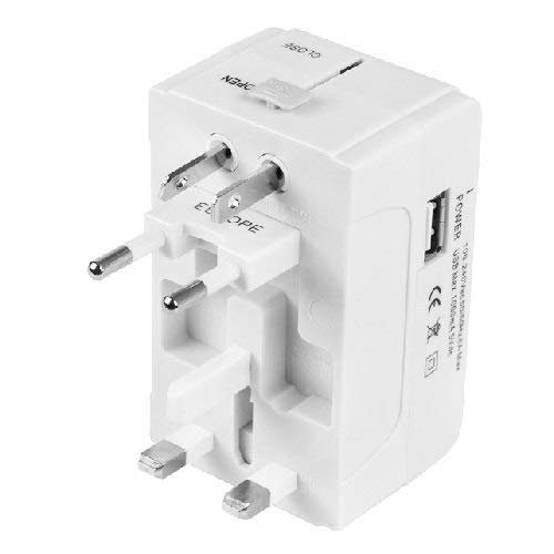 Plug Socket LLD 933L 4 in 1 (UE + UK + AU + Plug US +) Adattatore da Viaggio USB Universale .Caricabatterie USB della Presa Plug