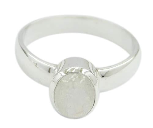 riyo Designer 925 Sterling Silber aus echtem Regenbogen Mondstein Ring Geschenk de