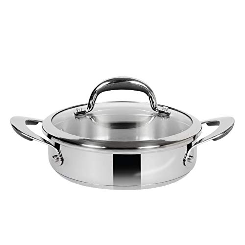 Meyer Select Stainless Steel Sauteuse 20cm, 1.4 Litre (Induction & Gas Compatible)