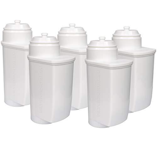 5-Pack Entkalkung Wasserfilter für Kaffeevollautomaten kompatibel Brita Intenza | Bosch TCZ7033 | VeroAroma, VeroBar, VeroCafe, VeroProfessional - Serie | für Einbauvollautomaten