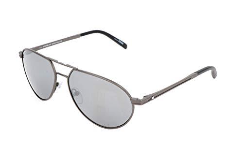 Montblanc Mont Blanc Gafas de sol, Gris (Grey), 59.0 Unisex Adulto
