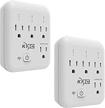 Smart plug KMC 4 Outlet Energy Monitoring Wifi Outlet Compatible with Alexa Google Home & IFTTT No Hub Required Remote Control Your Home Appliances from Anywhere ETL Certified 2 Pack