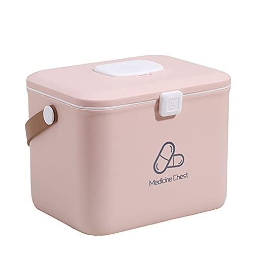 NCONCO Plastic EHBO Opbergdoos Familie Geneeskunde Container Bin met Draagbare Handvat Dubbele Lagen Emergency Medicine Kit Case