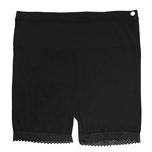 Hztyyier Maternité Shorts Femmes Été Grossesse Shorts Pantalon Maman Séchage Rapide Panneau Complet Sécurité Leggings Court Stretch Wear(Black-L)