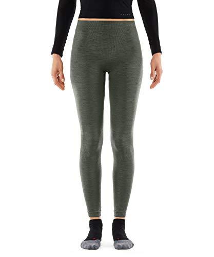 FALKE Damen, Tights Wool Tech. Long Merinowollmischung, 1 er Pack, Grün (Olive 7830), M
