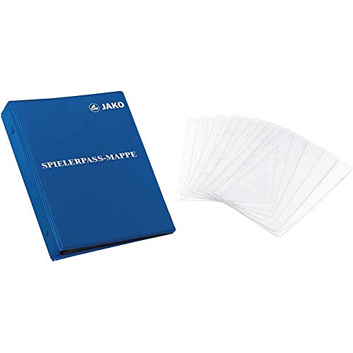 JAKO Spielerpass-mappe, Blau, One Size & Spielerpass-Ersatzhüllen, Transparent, One Size