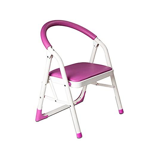 ZXXL Taburete Escalera Escalera de Paso Pequeña para Niños, Taburete Plegable 1 Escalón con Pasamanos y Pie Antideslizante, para Cocina/Baño/Dormitorio/Inodoro