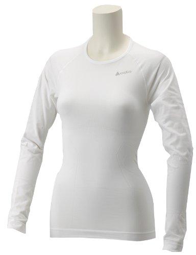 Odlo Evolution Light Femmes T-Shirt à Manches Longues et col Ras du Cou Blanc Blanc X-Large