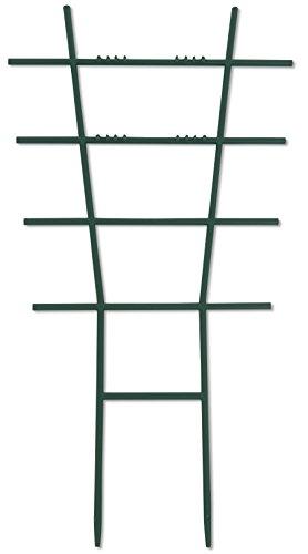 Windhager Blumenstütze Rankhilfe Gitterspalier Rankgitter, Kunststoff, gerade, Grün, 43 x 23 cm, 05711