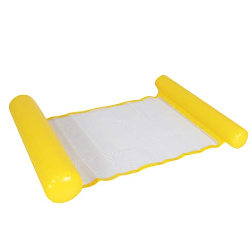 CLISPEED Aufblasbare Luftmatratze Pool Hängematte Mesh Schwimmbett Schwimmbad Badeinsel für Kinder Erwachsene Hawaii Luau Sommer Beach Party Swimmingpool Spielzeug