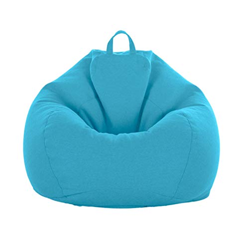 AGVER Bean Bag Cover Suitable for Armchairs And Sofas, Made of Soft And Comfortable Fabric, (Without Filler) with Hidden Zip Design,Blue,S