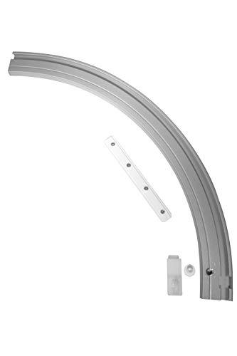 Gardinia Rundbogen für Aluminium-Vorhangschiene 1-läufig rechts 20 x 20 cm
