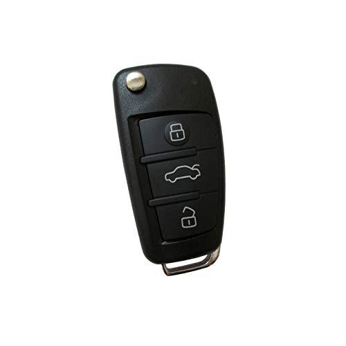 Carcasa para llave plegable con tres botones para Audi A1 8X A3 8P 8V A4 B7 A6 C6 TT 8J Q3 8U Q7 4L R8 modelo Serie