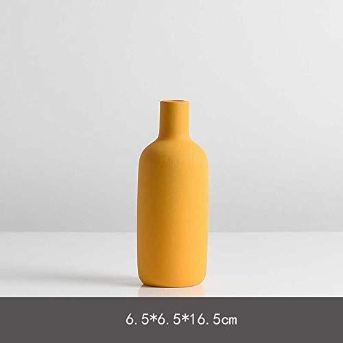 Vase Keramik Tischvase Dekoration Home Handmade Porzellan Vase Füller Für Blumen Wohnzimmer Büro Badezimmer Dekor Gelb