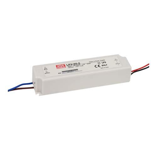 Mean Well LED voeding 60W MeanWell LPV-60 schakelende voeding [energieklasse A] (LPV-60-24)