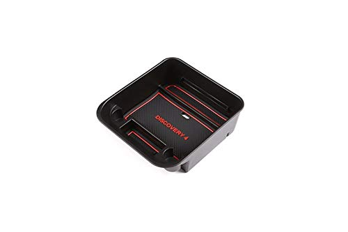 Wishful Ajuste for Land Rover Discovery 4 LR4 2010-2016 Coche Caja de Almacenamiento Central Puerta Teléfono Guante Box Accesorios (Color Name : Black)