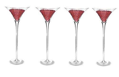 Homedelight 4x 60cm Martini Glas Vase Tisch Mittelpunkt Hochzeit Dekorationen