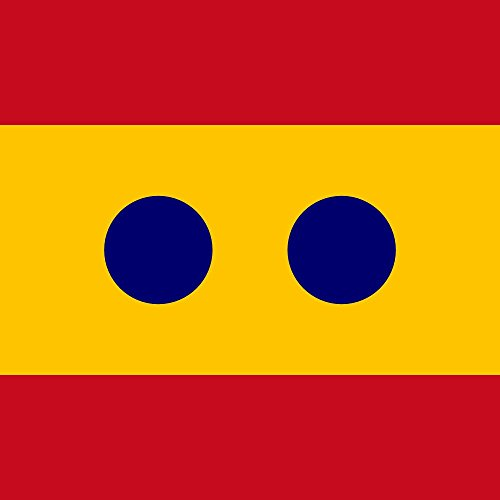 magFlags Bandera Large Vice Admiral Spain | Rank of Vice Admiral of Spain | 1.35m² | 120x120cm