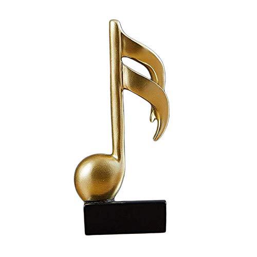 HJUYV-ERT Estatuas Decoración para el hogar Adornos Modernos, Escultura de Nota Musical de Resina Estatua de Arte Artesanal para Sala de Estar Dormitorio Decoración de Escritorio