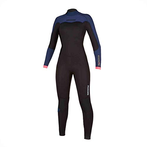 Mystic Watersports - Surf KiteSurf & Windsurfing Dames Dazzled 4/3 Back Zip Wetsuit - Navy - Thermische warme warmtelaag