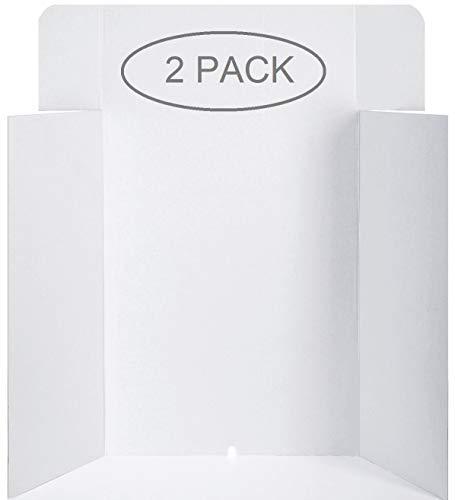 Poster Pro Display Board Unique-Trifold-Design (White, 36 x 48 inches, Set of 2)