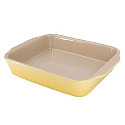 """American Bakeware 10"""" x 8.5"""" Rectangular Casserole Baker - Non Stick Ceramic - Heat Resistant to 400 °F - No Metals or other Harmful Materials - Safe for Oven, Microwave, Dishwasher - Made in the USA"""