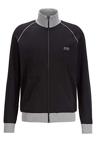 BOSS Herren Mix&Match Jacket Z Regular-Fit Loungewear-Jacke aus elastischer Baumwolle